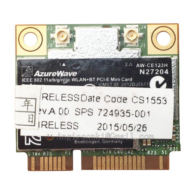 BCM94352HMB 94352 BCM4352 carte WiFi double bande pour HP Broadcom + Bluetooth 4.0 867 Mbps Mini PCI-E 802.11ac SPS 724935-001 725 755