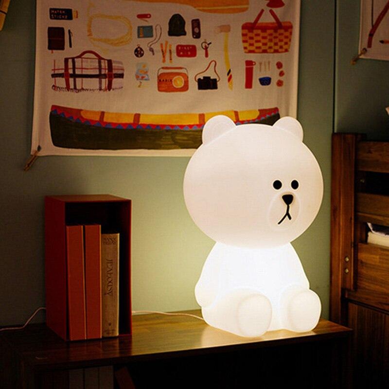 LED bébé lampe ours lampe décorative 30*19*18 cm maison enfants lumière enfants cadeau d'anniversaire belle décoration Hoom lit suite jouet M002