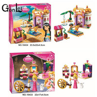 GonLeI 10434 10433 Dream Sleeping Girl Series Aladdin Princess Jasmine Bricks Figures Building Block Toys