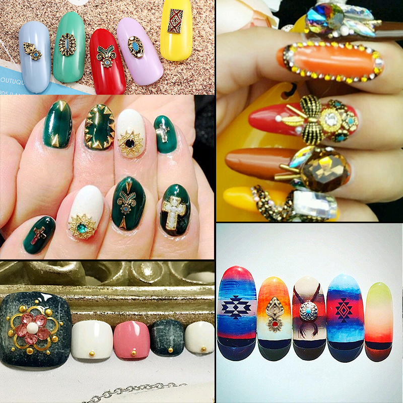 10 Pieces Beauty Retro Nails Charms Jewelry Accessories Vintage ...