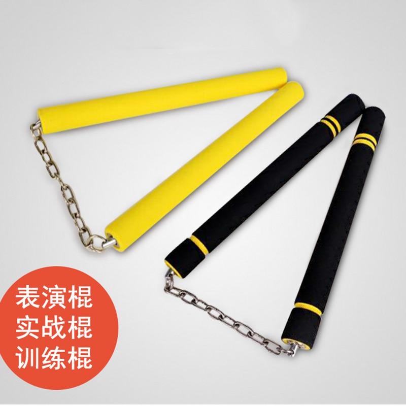 Martial Arts Foam Padded Thick Sponge Nunchaku Safe Practice Nunchaku Sticks