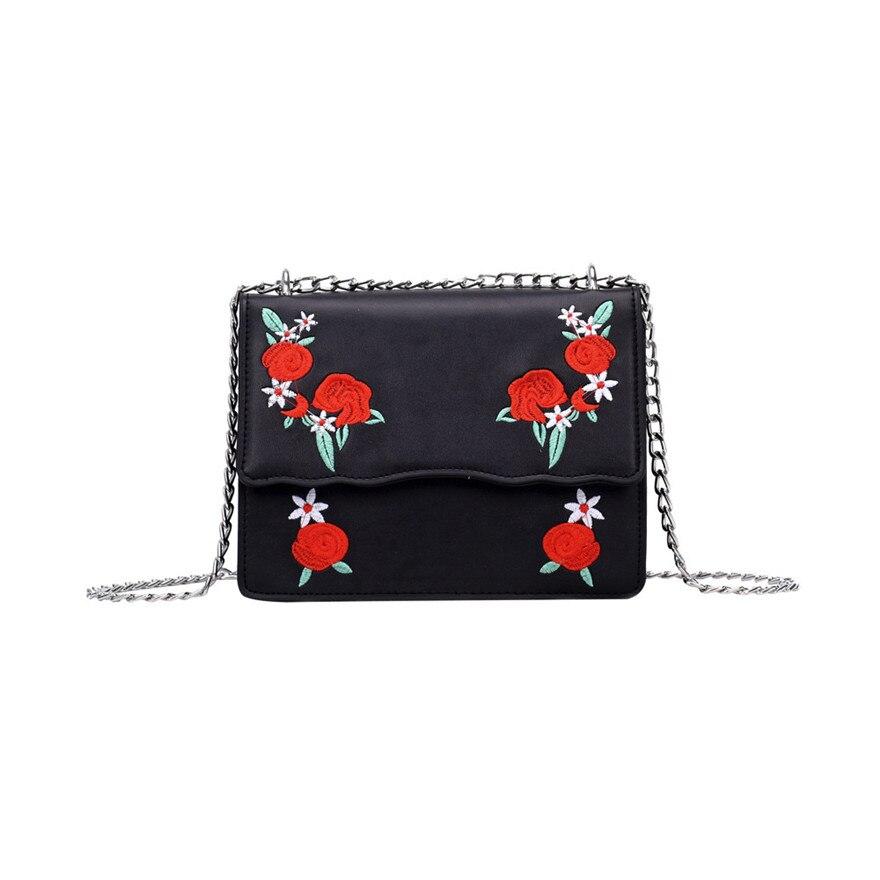 New Style Women Girl Fashion Rose Print Flap Bag Pretty Hasp Crossbody Shoulder Bag High Quality PU Leather Messenger bags S