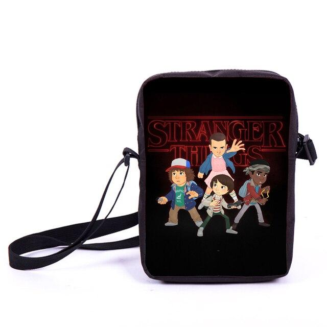 Stranger Things Cartoon Mini Messenger Bag Children Shoulder Bag Boys Gills  Cross Bags Kids Book Bags Women Handbags Best Gift