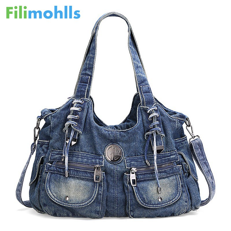 Fashion Women Bag Vintage Casual Denim Handbag Lady Large Capacity Jeans Tote Weave tape Creative Shoulder Messenger Bag S986 ветчинница tescoma presto с термометром высота 17 см
