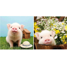 Cute Pig DIY 5D Full Drill Diamond Painting Embroidery Cross Stitch Kit Rhinestone Home Decor Craft Christmas Gifts