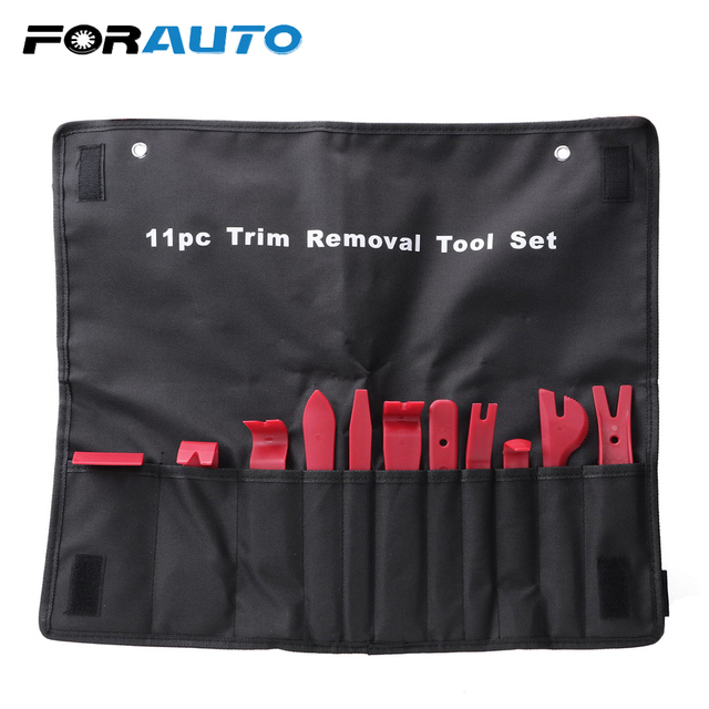 US $12 78 29% OFF FORAUTO 11pcs/set Nylon Storage Bag Trim Removal Tool Set  Auto Upholstery Tools Door Molding Dash Panel Trim Tool Kit-in Auto