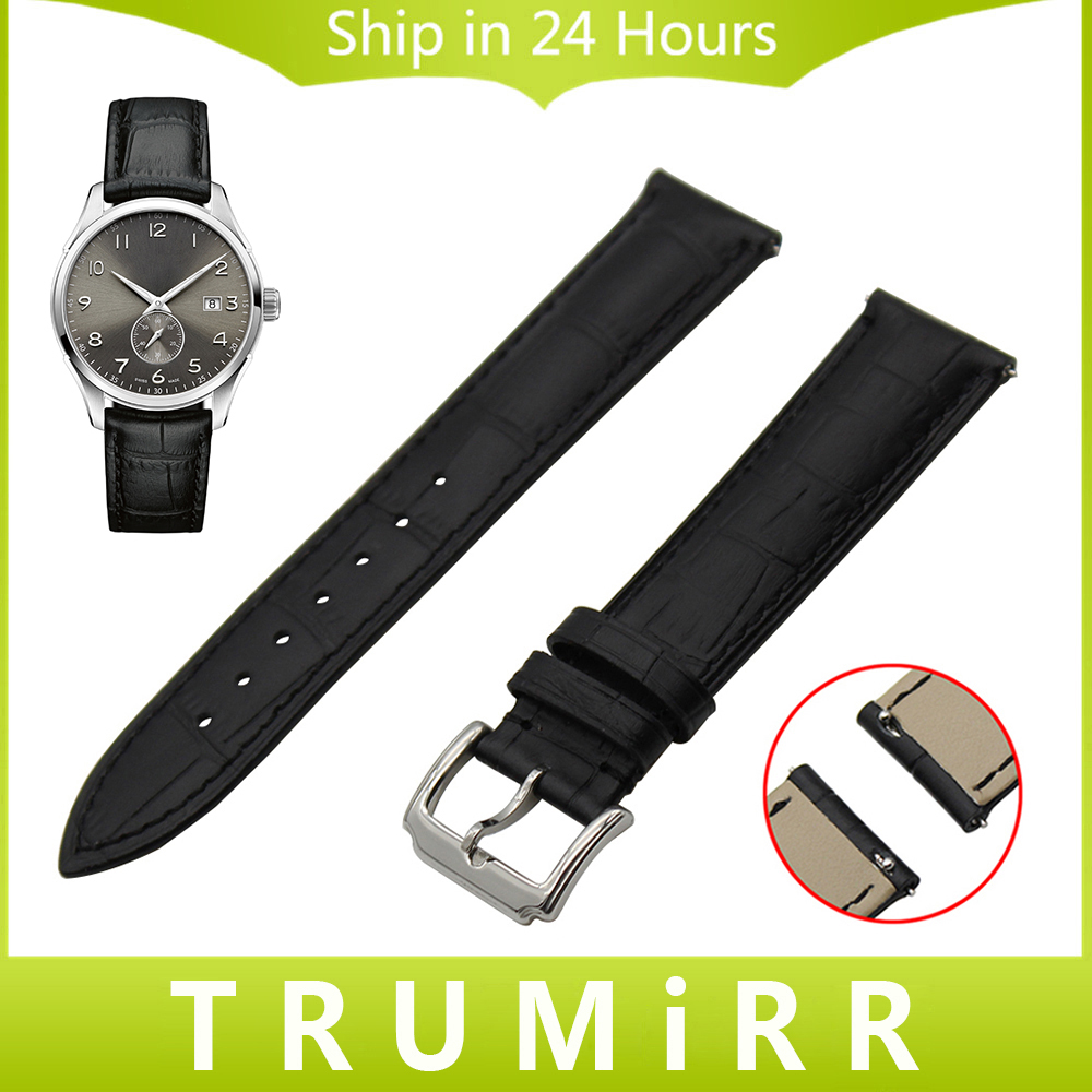 Quick Release Watch Band 18mm 20mm 22mm for Hamilton Men Women 1st Layer Genuine Leather Strap
