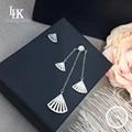 2016 High Fashion Pure 925 Sterling Silver Earring For Women Jewelry Gorgeous Drop Earrings Vintage Haute Custom Unique Earring