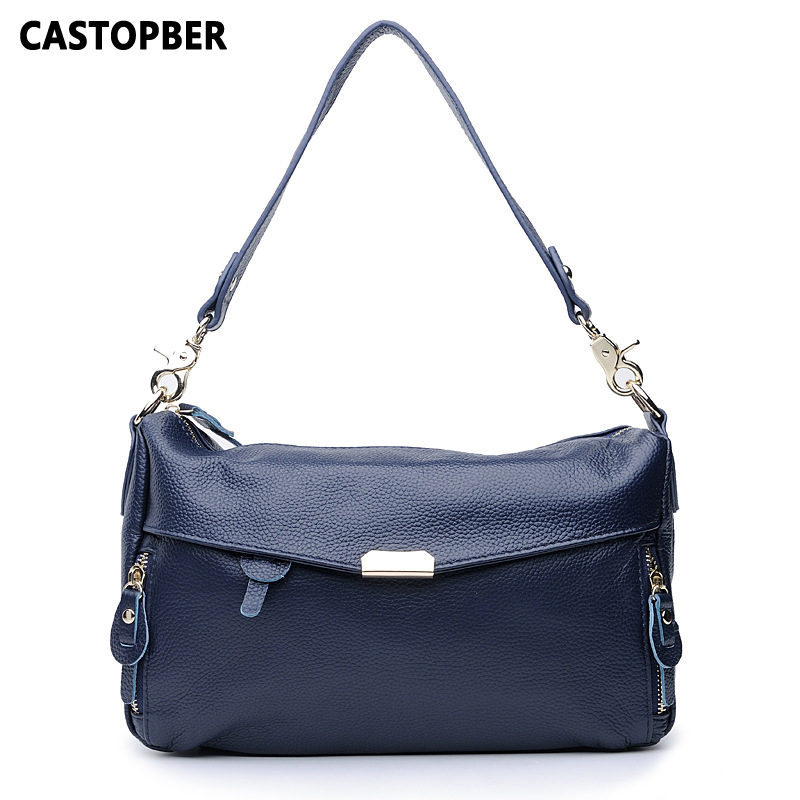 Women Shoulder Handbags Fashion Designer First Layer Of Cowhide Genuine Leather Crossbody Bags Ladies Famous Brand High Quality 2016 new fashion men s messenger bags 100% genuine leather shoulder bags famous brand first layer cowhide crossbody bags