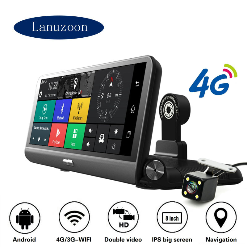 Cam-Mirror Radar-Detector Gps-Drive-Recorder Gps-Navigator Dash-Camera ADAS Car-Dvr Full-Hd