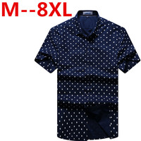 2017 New Arrival Cotton Short Sleeve Plaid Shirt Male Super Large Fashion High Quality Summer Plus