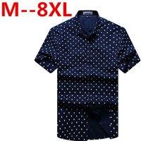 2017 New Arrival Cotton Short Sleeve Plaid Shirt Male Super Large Fashion High Quality Summer Plus