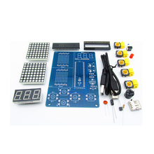 DIY Kit Electronics MCU Game for Tetris/Snake/Plane/Racing Dot Matrix Experiment Electronica Game Learning Kits Creative Retro