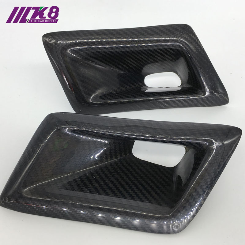 Carbon Fiber Front Bumper Air Ducts Intake Car Accessories Car Styling For Nissan 350Z carbon fiber dial dash cover glossy fibre finish interior accessories trim fit for nissan 350z z33 car styling