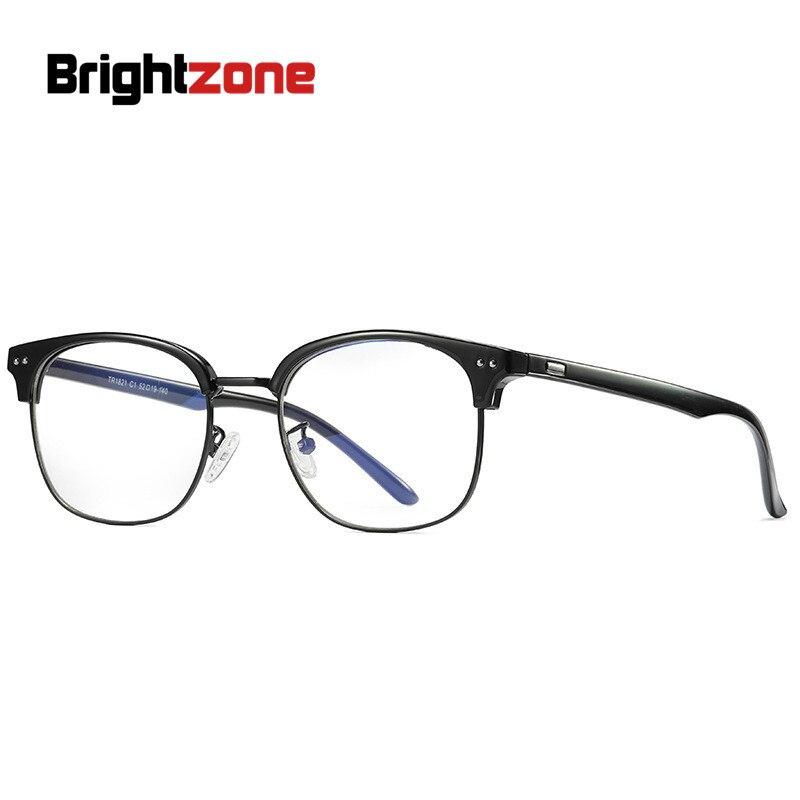 dbad7a002 Marcas Homens Quadro Miopia Espetáculo TR90 zona Brilhante Anti Luz Azul  Retro Vintage Óculos Óculos Ópticos Mulheres Redondas Novas jantes