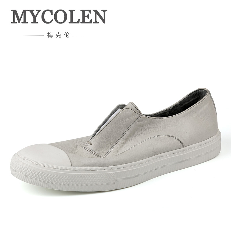 MYCOLEN The New Listing Leather Shoes Fashion Brand Men Casual Shoes Italian Summer Shoes Men Flats Zapatillas Hombre Casual цена 2017