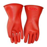 Hot Selling 30cm Length 5KV Insulated Latex Working Gloves Using For Transmission Line And Electric Power