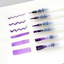 3/6pc Barrel Water Paint Brush Pen Set Different Size S M L Soft Calligraphy Sketch Pen Art Markers Drawing Pen Art Supplies