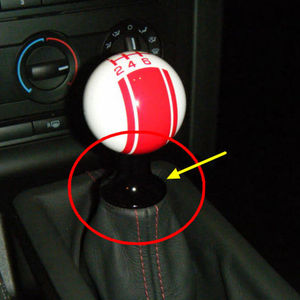 Image 2 - M12 X 1.25 evrensel araba düşük profil vites topuzu Boot adaptörü otomatik manuel vites kolu kolu tutucu Toyota subaru Ford