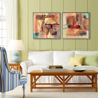 abstract landscape picture scenery prints flowers giant poster modern home picture wall art Flowers 2 panels home art abstract