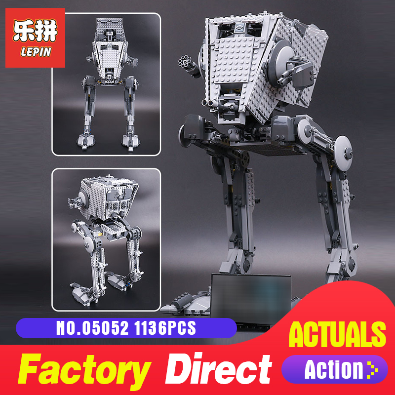 цена на Lepin 05052 star at-st walker Robot Model Building Kits Blocks Bricks Toys ForBoys LegoINGls 75153 10174 educational toys Wars