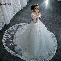 Новое поступление с длинным рукавом свадебное платье Vestido de noiva бальное платье Свадебный платья платье Robe de mariee свадебное платье бохо