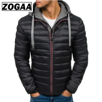 ZOGAA Men Jacket Coats Thicken Warm Winter Windproof Jackets Hooded Outwear Cotton-padded Jacket Zipper Hip Hop Cotton Hooded children winter jacket kids winter jackets thicken warm cotton corduroy girls winter coat detachable collar hooded kids outwear