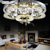 Modern Flower Shape Stainless Steel Chandelier Crystal Chandelier Bedroom Lamp LED Ceiling Free Shipping 100 Quality