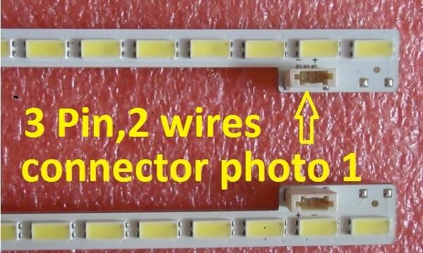 2 Pieces/lot SSL480-3E2K LJ64-03260B LED Strip SLED 2012SGS48 7030 64 REV1.0 64 LEDs 520MM,used Parts,no With Metal Plate