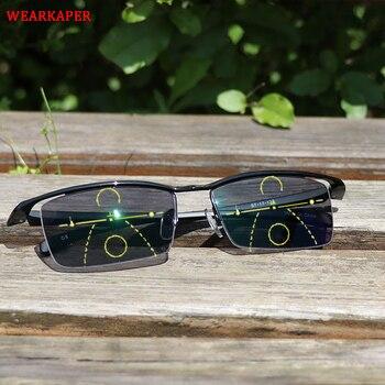 26be61531c Gafas de sol de transición WEARKAPER gafas de lectura multifocales  inteligentes fotocromáticas para mujer gafas multifunción cerca de lejos