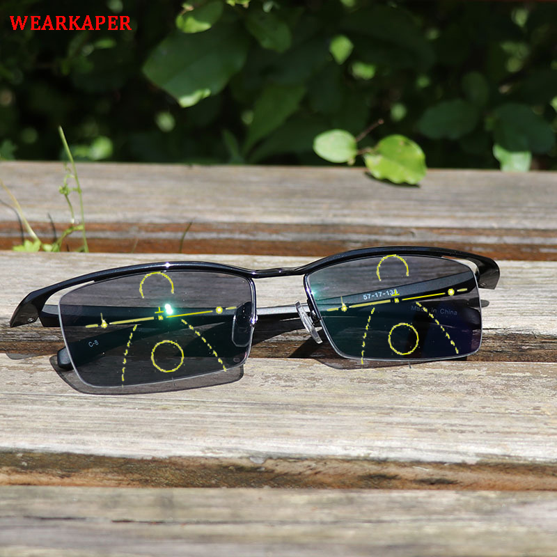 WEARKAPER Transition Sunglasses Photochromic Smart Progressive Multifocal Reading Glasses Women near far Multifunction glasses