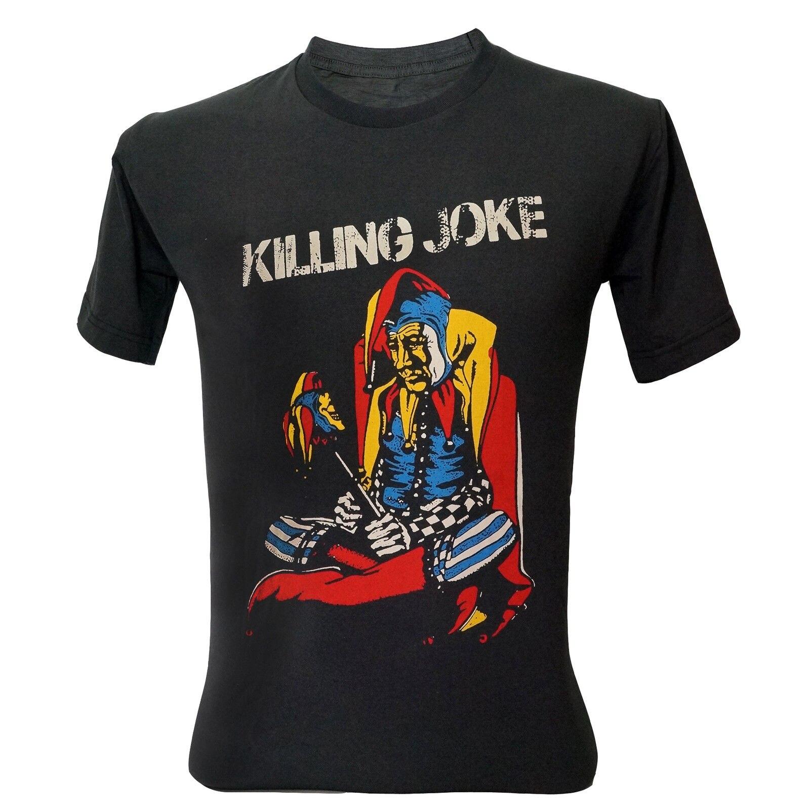 New KILLING JOKE Punk Rock Band Logo Mens White Black T-Shirt Size S To 3XL Men Adult T Shirt Short Sleeve Cotton Top Tee