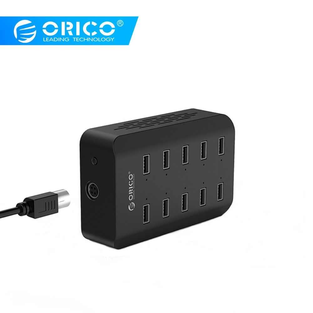 Orico 10 Port Desktop Stasiun Pengisian untuk Ponsel 5V2. 4A * 10 Port Charger Adaptor untuk Ponsel Tablet