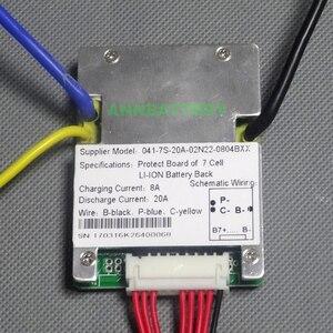 Image 2 - 7S 24V (29.4 V) akumulator litowo jonowy BMS 20A ciągły prąd rozładowania dla 24V e bike akumulator litowo jonowy z funkcją równowagi