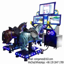 Very Popular ! For 2XPlayers, Go Go Jockey III Amusement Park Equipment Adults Video Horse Riding Simulator Game Machine