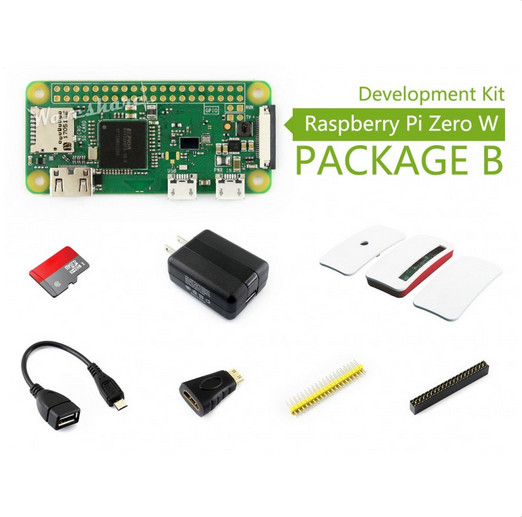 Raspberry Pi Zero W (built-in WiFi) Development Kit Type B, Micro SD Card, Power Adapter, Official Case, and Basic Components samuel b owusu mintah ecotourism development in ghana an introduction