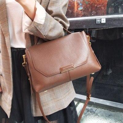 NEUE Echtes Leder Taschen Designer Handtaschen Frauen Schulter Umhängetaschen Frauen Menssenger Tasche Tote Bolsas Feminina Berühmte Marke-in Schultertaschen aus Gepäck & Taschen bei  Gruppe 1