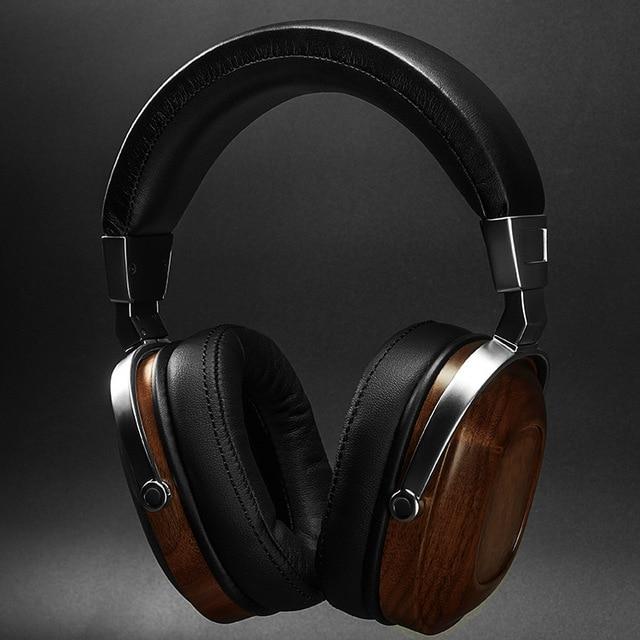 DIY headphone HIFI wooden headset 50mm speaker