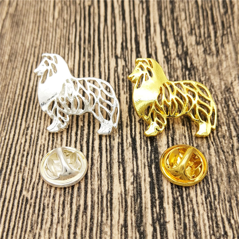 LPHZQH wholesale hot sales Rough Collie Broches and pins Collar Pin Jewelery Clothing Accessories Men's Gift
