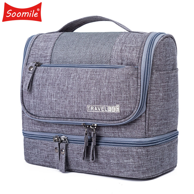 Soomile 2018 New Travel Cosmetic Bag Hanging Make up Bags Waterproof Men Women Portable Wash Supplies Storage Bags For Suitcase