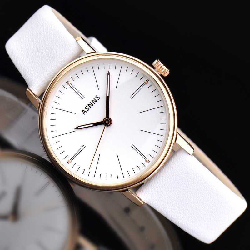 Lady watch fashion couple of tables luminous waterproof leather belt watch quartz watch female watch