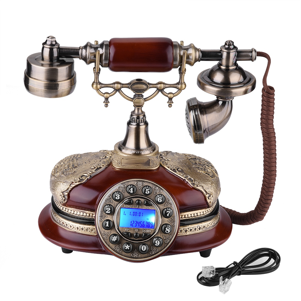 Fashionable Retro Vintage Antique Style PhoneTelephone Ro tary Dial Antique Telephones Landline Phone