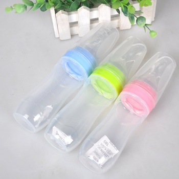 Newborn Baby Bottle Leak-proof Food Dispensing Spoon 120ml Juice Cereal Feeding Bottle Spoon Food Supplement Rice Cereal Bottles