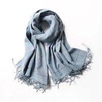 Winter Scarf Women Men Luxury Brand Designer Tartan Cashmere Winter Warm Square Plaid Wool Shawl In Women Scarves Cachecol
