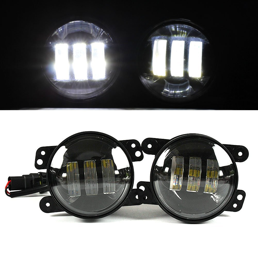 Urbanroad 2PCS 4 Inch 30W LED Fog Light White For Jeep Wrangler JK 07~14 High Power LED Fog Lamp Auto DRL Lighting Led Headlamp on sale 2pcs auto accessories 6500k 4inch 30w led fog lamp light fits for jeep wrangler jk 2007 2015