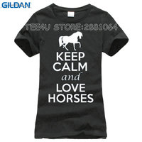 T Shirt Making O Neck Short Sleeve Keep Calm And Love Horses O Neck Short Sleeve