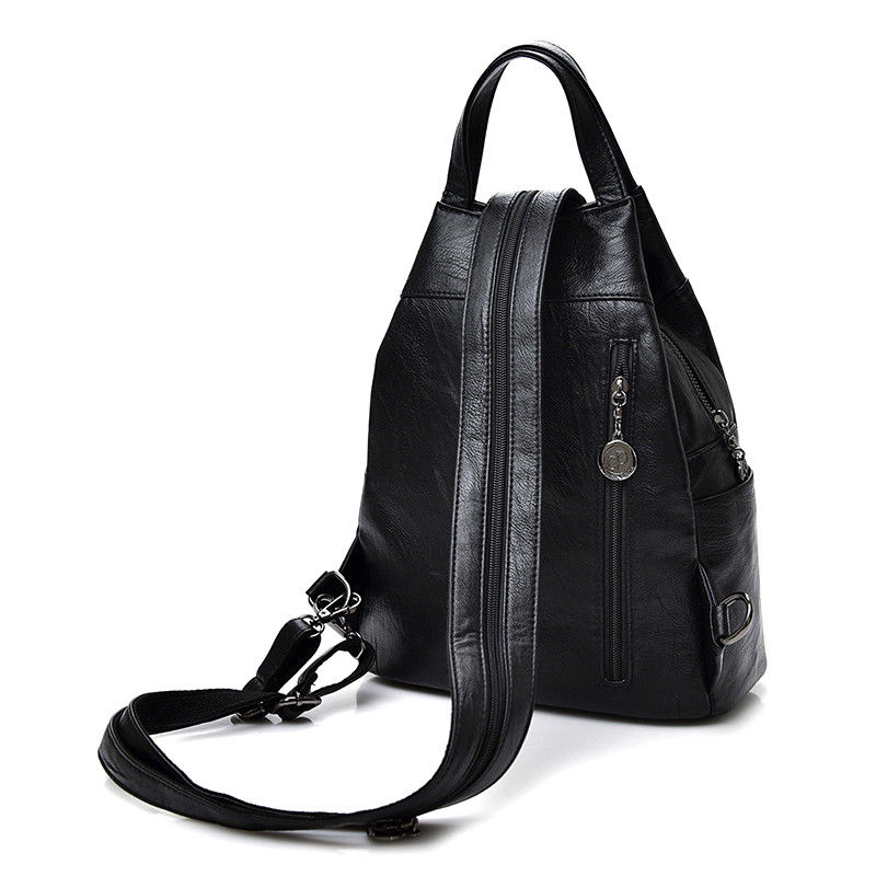Fashion Leisure Women Backpacks Women's Pu Leather Backpacks Female School Shoulder Bags For Teenage Girls Travel Back Pack #5