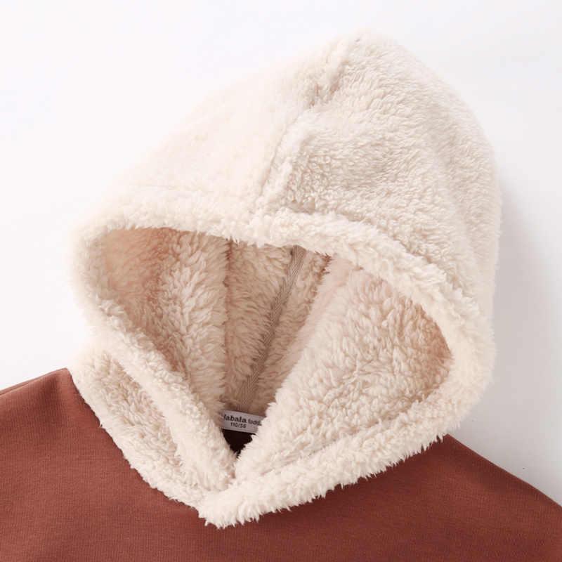 Balabala Peuter Boy Capuchon met Faux Fur Kangaroo Pocket Kids Pullover met Faux Fur Hood Geribbelde Manchet en zoom