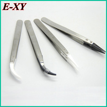 E-XY antistatic ceramic tweezers precision insulated stainless steel heat-resistant ceramic tweezers free DHL 50Pcs for vape