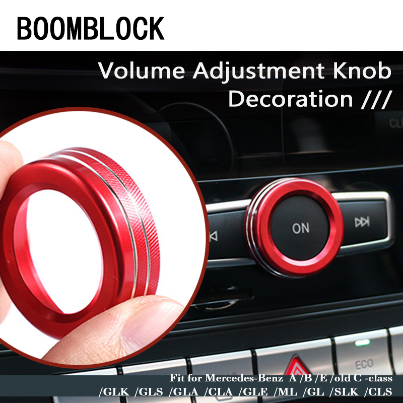 1x Auto Car Volume knob Covers For <font><b>Mercedes</b></font> <font><b>W203</b></font> W204 W205 W211 Benz A B C E Class GLK CLS GLA CLA CLE ML GL SLK GLS Accessories image
